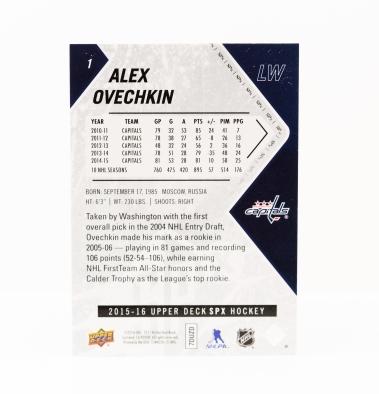 Alex Ovechkin 2015/16 Upper Deck SPX